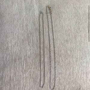 2 925 sterling silver chain necklaces